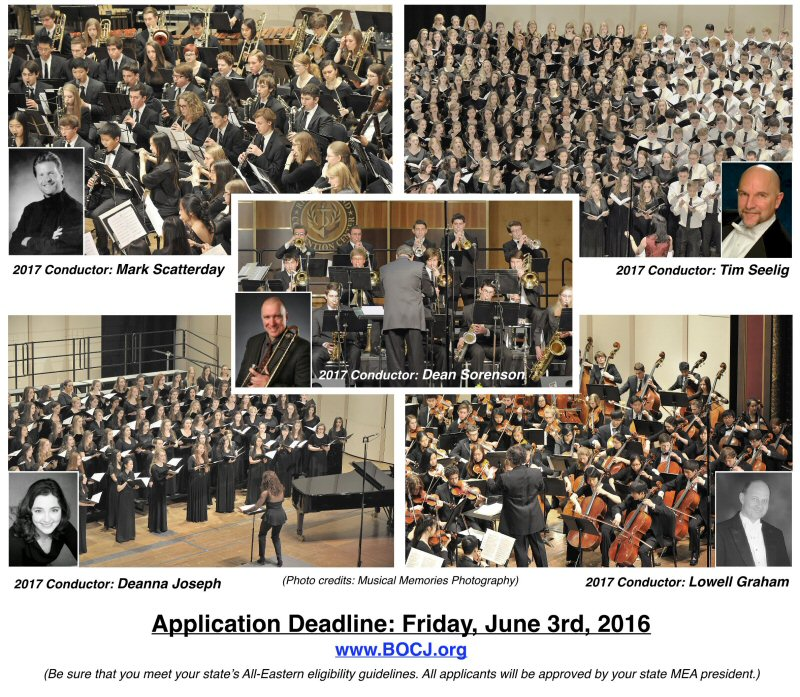 2017 All Eastern Application Deadline